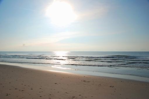 the beach - before